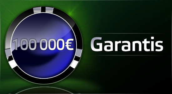100 000 € garantis sur Party Poker